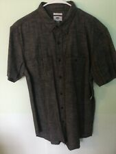 New listing New with Tags Dark Gray Casual Cotton Buttondown Shirt Men's Large L Slim Fit