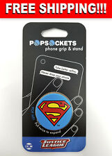 PopSockets Single Phone Grip PopSocket Universal Phone Holder Superman Icon NEW!