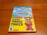 Super Mario Maker (Nintendo Wii U, 2015) CIB Complete TESTED WiiU Fast Shipping