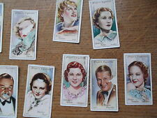 JOHN PLAYER CIGARETTE CARDS. FILM STARS.FAMILY OWNED. 36 CARDS.