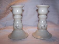 "Pfaltzgraff Heirloom Pair of 5"" Candlesticks / Candleholders Excellent Condition"