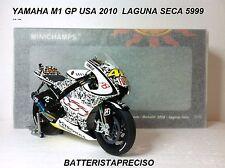 MINICHAMPS VALENTINO ROSSI 1/12 YAMAHA 2010 GP USA LAGUNA SECA L.E. 5999 pcs