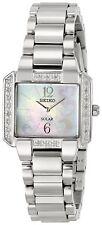 Seiko Women's Tressia Solar Diamonds Stainless Steel Watch SUP211