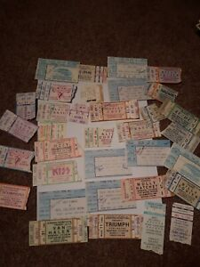 Rare lot of indiana concert ticket stubs