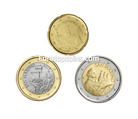 #RM# 20 CENT + 1 EURO + 2 EURO SAN MARINO 2017 - NEU