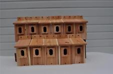 12 BLUEBIRD BIRD HOUSES NEST BOX CEDAR  PETERSON OVAL OPENING HANDMADE  FREE S/H