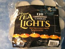LOT OF 76 TEA LIGHTS UNSCENTED CANDLES Burn for at least 4 hours