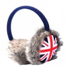 Union Jack Furry Orejeras Rojo