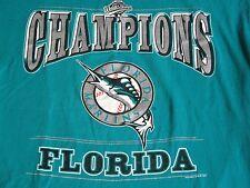 Vtg 90s Lee Sport Nutmeg 1997 MLB FLORIDA MARLINS Baseball Teal T Shirt L