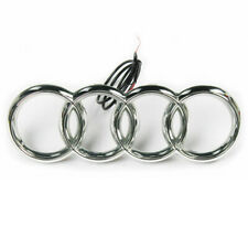NEW WHITE AUDI LED EMBLEM FRONT GRILL GLOW LOGO BADGE RINGS S3 S4 S5 A4 A5 LIGHT
