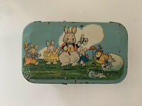 Vintage Antique Easter 1920's Tindeco Peter Rabbit Candy Container Tin Box