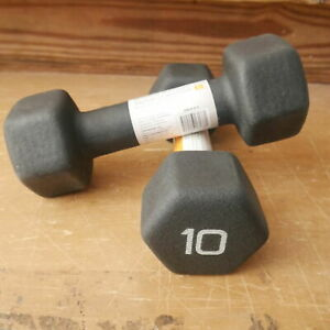 CAP 10 lb Neoprene Hex Dumbbell Pair Set Hand Free Weights NEW FAST SHIPPING!