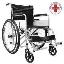 Carrozzina pieghevole sedia a rotelle ad autospinta larga per disabili anziani