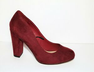 NEW LOOK Brand Wine Suede Pumps Classic Heels Size 6 LIKE NEW