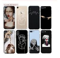 Mona Lisa Art Soft Silicone Phone Case Cover iPhone 5 5S SE 6 6s 7 8 Plus XR XS