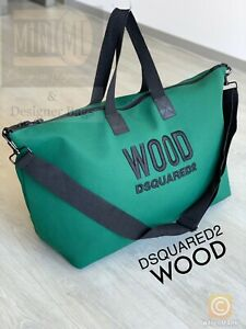 🆕DSQUARED2 WOOD WEEKEND BAG TRAVEL HOLDALL / SPORT Overnight BAG  BRAND NEW