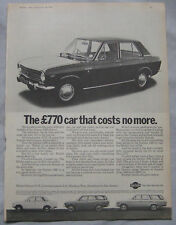 1969 Datsun 1000 Saloon Original advert No.1