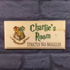 Personalised Harry Potter Plaque / Sign / Gift - Room Hogwarts Muggles Teacher