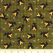 HONEY BEES BEARS Fabric Fat Quarter Cotton Craft Quilting BEEHIVES - BENARTEX