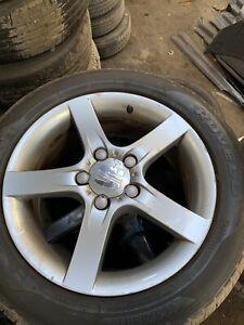 Seat Leon Alloy Wheels 205/55/16 5 Spoke With Tyres