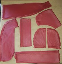 Red Leather Offcuts (small Bundle)