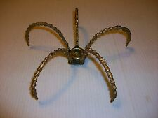 VINTAGE BRASS LAMP SPIDER LEGS ARMS PRISM HOLDER WITH COLLAR CHANDELIER SCONCE