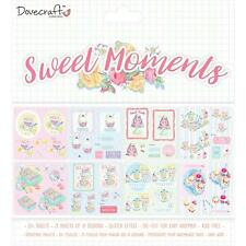 Dovecraft ~ DECOUPIS Pad ~ 24 8x8 DÉCOUPÉ FEUILLES Paillettes Effet ~ sweet mome...