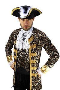 Costume Aristocrat Pirate Captain Baroque Caribbean Medieval Men's Size 56