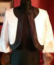 ANNA ROSE collection,black & ivory silk bolero. Size 12.