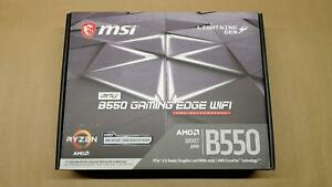NEW MSI MPG B550 GAMING EDGE WIFI AM4 AMD B550 PCIe 4.0 Wi-Fi 6 ATX Motherboard