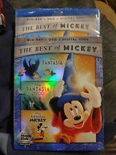 The Best of Mickey: Fantasia/Fantasia 2000/Celebrating, Blu-ray/DVD/Digital NEW