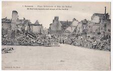 France, Soissons; Place St Gervais & Rue De Beffroi PPC Unposted, WW1 Damage