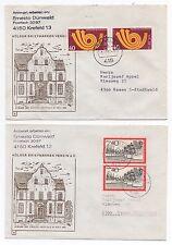 1983 GERMANY - 2 x Covers KREFELD To ESSEN Stamp Pairs Dünwald Appel