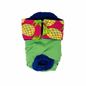 Dog Diapers - Made in USA - Pineapple Express on Green Waterproof Premium Dog...