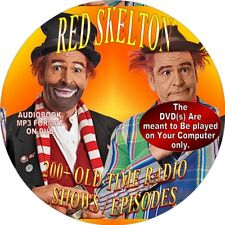 RED SKELTON - 200+ COMEDY OLD TIME RADIO SHOWS / EPISODES - AUDIOBOOK-MP3-DVD