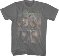 POISON - Faded Cat Drag -  T SHIRT S-M-L-XL-2XL Brand New Official Glam Metal