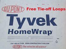 7 X 4ft. Tyvek DuPont Homewrap Ground Sheet Tarp Footprint - FREE LOOPS!