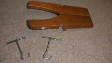 Antique Wooden Folding Boot Jack With 2 Folding Boot Pulls Inside