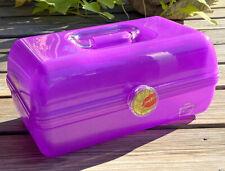 Caboodles Purple Translucent Make Up Cosmetic Organizer W/Mirror Kiss Closure