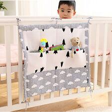 9 Pockets Baby Bag Bed Crib Nursery Cot Storage Bumper Diaper Organizer Stacker