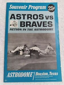 1966 Astros vs. Dodgers Game Souvenir Program  UNMARKED scorecard