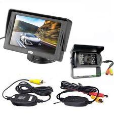 "Wireless Reversing Backup Camera 18 IR LED + 4.3"" LCD Monitor Car Rear View Kit"