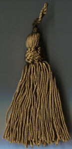 """4"""" ANTIQUE GOLD CHAINETTE CROWN TASSELS  LOT OF 6"""