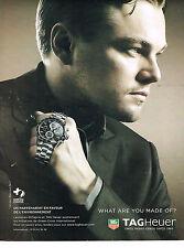 PUBLICITE ADVERTISING 075  2009  TAG HEUER montre LEONARDO DI CAPRIO GREEN CROSS