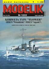 Modelik 12/03 - Korvette d. Flower-Class  Wetaskiwin  mit Lasercutteilen 1:200