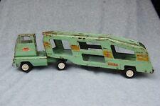 "Tonka Pressed Steel Car Hauler Toy Green 18""x5"" tall Transport Vehicle Vintage"