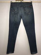 7 For all mankind jeans women's 30 x 35 LONG Skinny Leg Fitted 7's Sevens DARK
