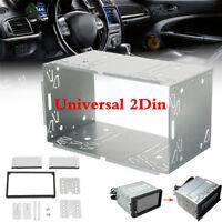 Universal Car Van Stereo Radio Double 2 Din Radio Panel Mounting Cage Frame Kits