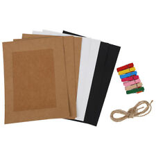 7pcs 6?Paper Photo Flim DIY Wall Picture Rope Hanging Album Stand Frame Hemp SS