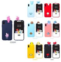 Official BTS BT21 Figure Soft Phone Case Cover Authentic LINE FRIENDS KPOP Goods